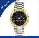 IP het Horloge van de Chronograaf van het Roestvrij staal van het Plateren met Toegepaste Indexen