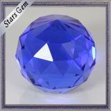 De ronde Enige Parels van de Bal van het Glas van het Gezicht van de Facetten van de Kleur van het Punt Blauwe K9 voor Ambachten