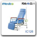 Base de acero de la silla del donante de sangre del hospital, silla ajustable de la transfusión