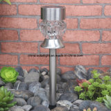Crystal Glass Solar Stake Light Light Garden