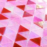 De hoge Decoratie Van het Achtergrond eind van de Muur betegelt het Roze Mozaïek van het Gebrandschilderd glas