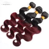 Человеческие волосы 100% девственницы качества машины Weft двойные нарисованные волнистые