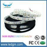 L'indicatore luminoso di striscia flessibile della decorazione LED di natale IP65 SMD5630 60LEDs/M 5m 300LEDs 12V 24V R/G/B//W/Y/Cw/Ww LED mette a nudo impermeabile