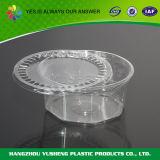 Contenitori di imballaggio di plastica a gettare rotondi di memoria dell'alimento con il coperchio provvisto di cardini
