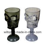 Halloweenは分類したプラスチック頭骨のゴブレット(HW002)を