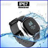 Reloj elegante del monitor del ritmo cardíaco de la presión arterial de la pulsera