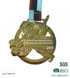 Preiswerte kundenspezifische laufende Konkurrenz-Preis-Medaille mit Farbband