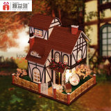 Handemade Wooden Toy DIY Dollhouse Flower Town