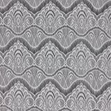 De witte Stof van het Kant van de Polyester van de Jacquard van de Wimper