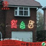 屋外のためのカスタムクリスマスの装飾の印LEDのスノーマンの木のサンタクロースロープのモチーフライト