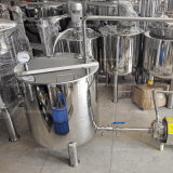 Réservoir de mélange jupe électrique/chauffée à la vapeur d'acier inoxydable