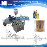 Botella de plástico redonda automática máquina de etiquetado adhesivo