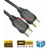 2160p plateado oro de alta velocidad 2.0 4K HDMI al cable de HDMI