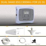 De dubbele Versterker van het Signaal van de Repeater van het Signaal van de Band 850/1900MHz Mobiele 2g 3G Cellulaire