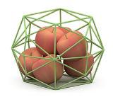 Шар хранения плодоовощ геометрии способа