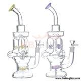 새로운 디자인 Klein 유리제 숫자 고품질 연기가 나는 수관