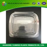 小さく明確なサンドイッチのためのプラスチックによって蝶番を付けられる食糧容器