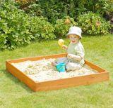 Sandpit en bois de bac à sable des gosses extérieurs simples de grand dos