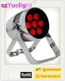 Guagnzhou nuevo y patentado el brillo 7pcs10W RGBW Italiano impermeable DJ Spot de la luz de la par con la batería con Ce RoHS