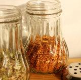 il sale 125ml, pepa la bottiglia di vetro senza piombo del condimento