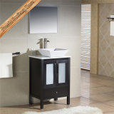 Шкаф ванны тщеты ванной комнаты твердой древесины Fed-1181 Matt белый