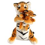 En71 simulación estándar Peluche tigre de juguete de peluche personalizado
