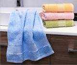 小さい綿のジャカード正方形白い手タオル