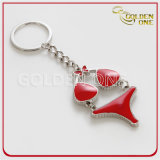 Keyring Shaped do metal da planta amigável de Eco com logotipo do esmalte