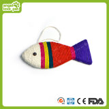 Colorful Sisal Scratch Board Fish Shape Cat Toys