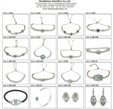 2017 горячая продажа цвет камня оптовой Silver наборов ювелирных изделий S3388CR