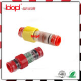 Conetor do bloco do gás (ANEL amarelo), conetores da selagem do cabo da fibra óptica do duto 8/4.5mm