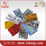 높은 안전 공백 번호판, 차 번호판