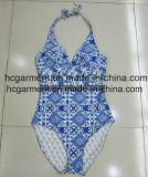 Usura Monokini della spiaggia dello Swimwear di stampa per le donne/signora, vestito di nuoto di un pezzo