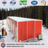 Estrutura de aço Prefab Oficina painel isolado na Rússia