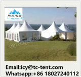 Customized Folding Coated Wedding Party Pagoda Tent with French Window for Sale