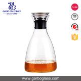De promotie Karaf van het Glas 900ml Hoge Borosilicate met het Deksel GB630020900 van het Roestvrij staal