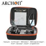 Archon W21vp 2 X 크리 사람 Xm-L2 (U2) 공정한 판단 2X 빨간 크리 말 XP-E N3 LED와 가진 영상 플래쉬 등 넓은 110 정도 광속 각 스쿠바 다이빙 사진술 1300lm