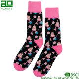 Glückliche Geschenk-kundenspezifische Kleid-Mann-Socken