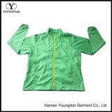 Zip up Casacos de casaco de pele leve verde para homens