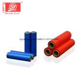 Film rouge d'enveloppe de film d'extension de main de la résistance 5000m LLDPE de pénétration