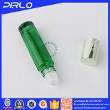 rodillo del vidrio verde 10ml en la botella para el petróleo de Perfume&Essential con la tapa de aluminio