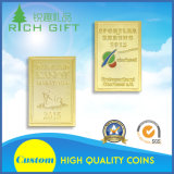 供給の高品質の低価格の罰金の金によってめっきされる硬貨