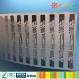 Tag da etiqueta do embutimento do ESTRANGEIRO H3 ALN-9630 Squiglette RFID