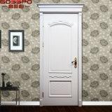 Kundenspezifische weißer Raum-Vorderseite-festes Holz-Schlafzimmer-Haustüren (GSP2-100)