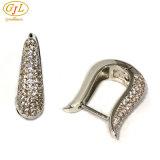 925의 은 귀걸이 925의 순은 귀걸이 아름다운 귀걸이 고품질 두 배 둥근 귀걸이 (E6954B)
