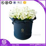 Boîte-cadeau de empaquetage de papier de fleur ronde