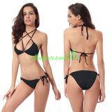 Bikini van het Koord Halter van dames de Sexy Dwars