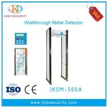 18 Zonas de la pantalla LCD grande caminar a través del detector de metales Jkdm-500c
