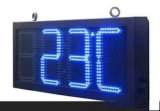 "16 "" LED 시각 날짜 온도 전시 옥외 발광 다이오드 표시 시간 온도 시계 전시, 옥외 LED 디지털 시계 표시"