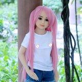 Minigeschlechts-Puppe-flache Brust-nette Mädchen-Silikon-Liebes-Puppen für Männer